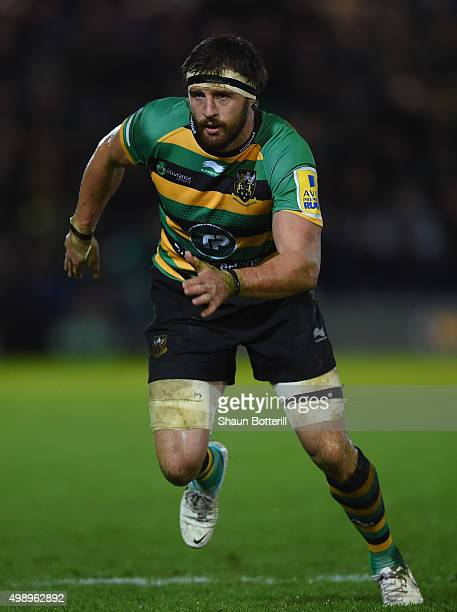 Tom Wood of Northampton Saints during the Aviva Premiership match between Northampton Saints and Gloucester Rugby at Franklin's Gardens on November...