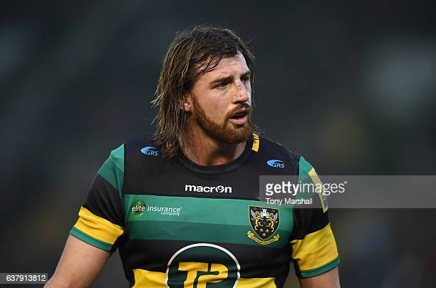 Tom Wood of Northampton Saints during the Aviva Premiership match between Northampton Saints and Bristol Rugby at Franklin's Gardens on January 7...