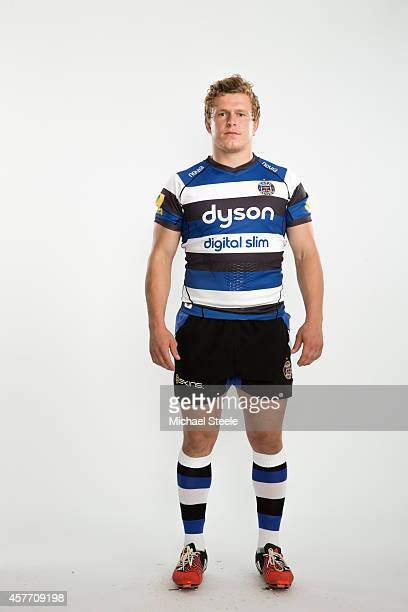 Tom Woolstencroft of Bath poses for a picture during the BT Photo Shoot at Farleigh House on August 28 2014 in Bath England
