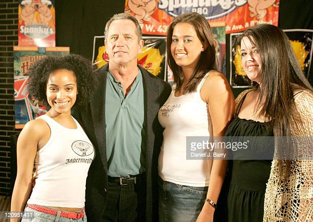 Tom Wopat and contestants during Tom Wopat Judges 'Dukes of Hazard' Karaoke Contest at Spanky's BBQ in New York New York United States