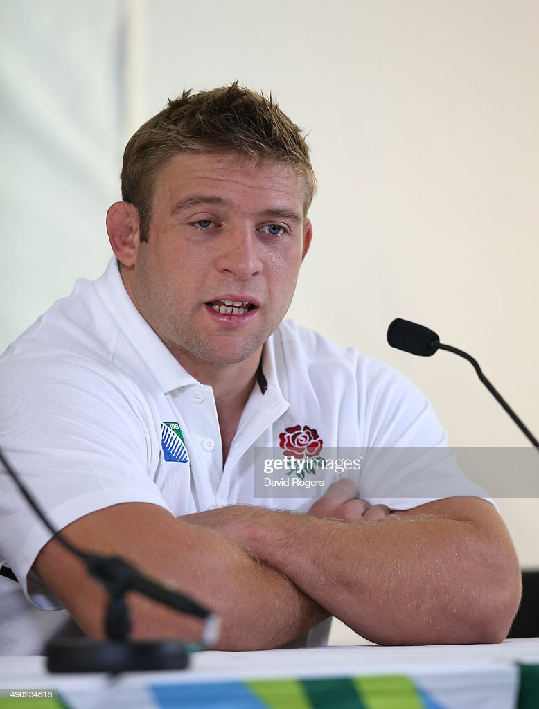 <a gi-track='captionPersonalityLinkClicked' href=/galleries/search?phrase=Tom+Youngs+-+Rugby+Player&family=editorial&specificpeople=10880014 ng-click='$event.stopPropagation()'>Tom Youngs</a>, the England hooker faces the meda at Pennyhill Park on September 27, 2015 in Bagshot, England.