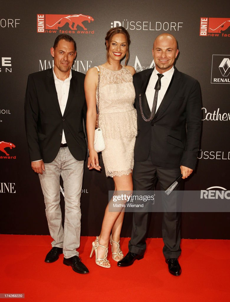 Tom Zauke (L) attends the New Faces Award Fashion 2013 at Rheinterrasse on July 22, 2013 in Duesseldorf, Germany.