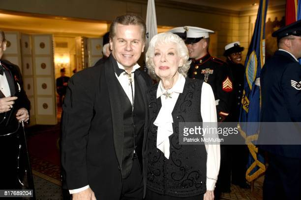 Tomaczek Bednarek and Joyce Randolph attend Soldiers' Sailors' Marines' Coast Guard and Airmen's Club 14th Annual Military Ball at The Pierre Hotel...