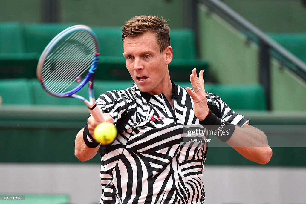 Tomas Berdych during the Men's Singles second round on day five of the French Open 2016 at Roland Garros on May 26, 2016 in Paris, France.
