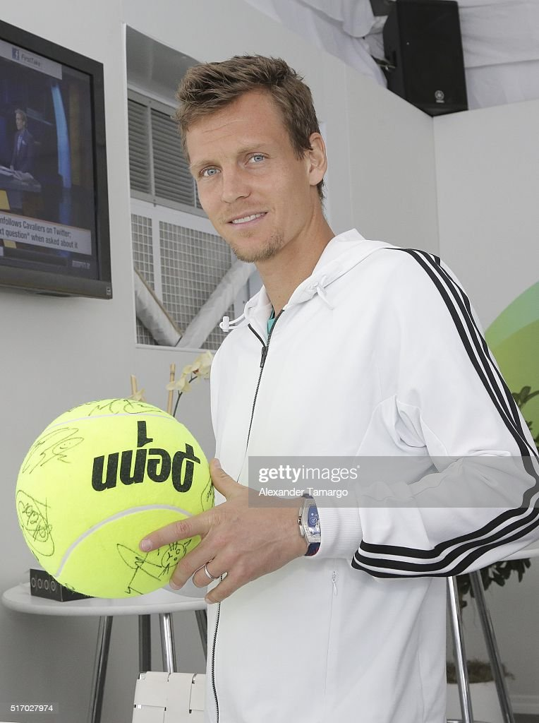 <a gi-track='captionPersonalityLinkClicked' href=/galleries/search?phrase=Tomas+Berdych&family=editorial&specificpeople=239147 ng-click='$event.stopPropagation()'>Tomas Berdych</a> is seen during the Miami Open Media Day at Crandon Park Tennis Center on March 22, 2016 in Key Biscayne, Florida.