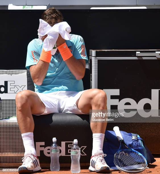 Tomas Berdych of Czech Republic during the match between Tomas Berdych of Czech Republic and Mischa Zverev of Germany during The Internazionali BNL...