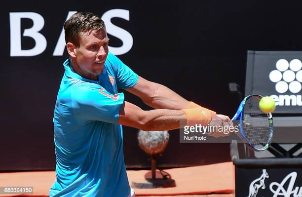 Tomas Berdych of Czech Republic in action during the match between Tomas Berdych of Czech Republic and Mischa Zverev of Germany during The...