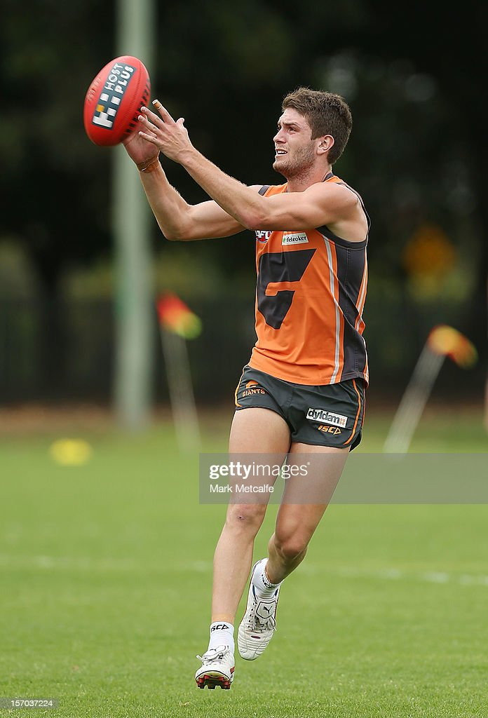 Tomas Bugg in action during a Greater Western Sydney Giants AFL pre-season training session at Lakeside Oval on November 28, 2012 in Sydney, Australia.