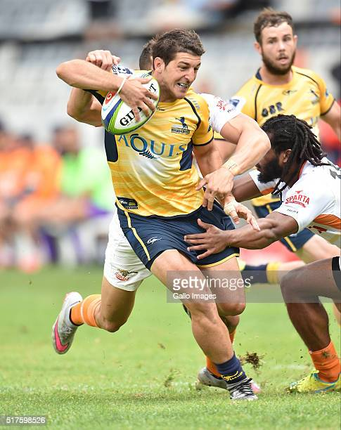 Tomas Cubelli of the Bumbies during the Super Rugby match between Toyota Cheetahs and Brumbies at Toyota Stadium on March 26 2016 in Bloemfontein...