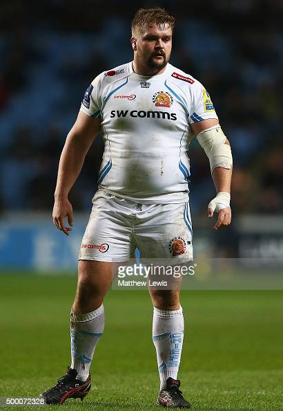Tomas Francis of Exeter Chiefs in action during the Aviva Premiership match between Wasps and Exeter Chiefs at the Ricoh Arena on December 4 2015 in...