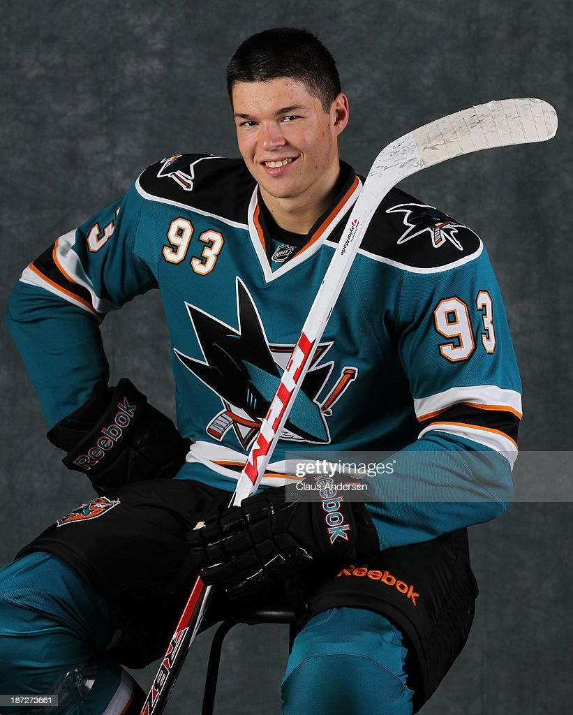 <a gi-track='captionPersonalityLinkClicked' href=/galleries/search?phrase=Tomas+Hertl&family=editorial&specificpeople=8761287 ng-click='$event.stopPropagation()'>Tomas Hertl</a> of the San Jose Sharks poses for an NHLPA - The Players Collection portrait at the Mastercard Centre on August 27, 2013 in Toronto, Ontario, Canada.
