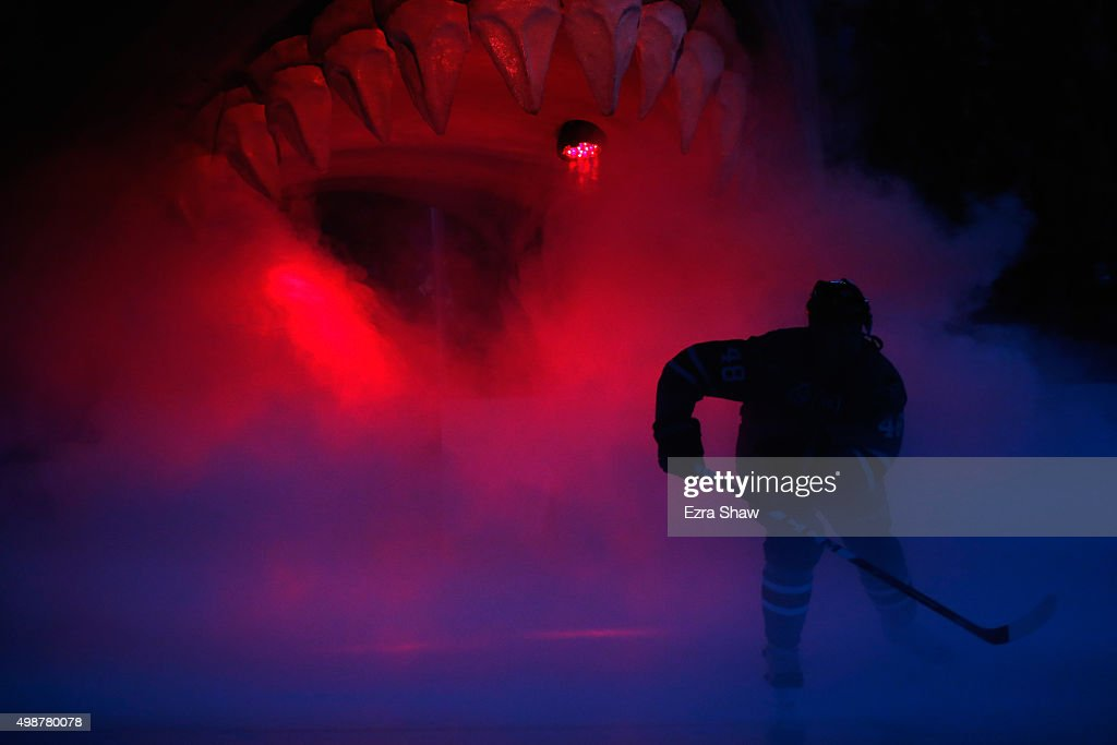 Tomas Hertl #48 of the San Jose Sharks skates on to the ice for their game against the Chicago Blackhawks at SAP Center on November 25, 2015 in San Jose, California.