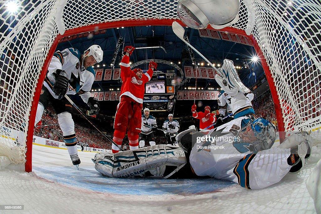San Jose Sharks v Detroit Red Wings - Game Three