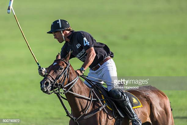 Tomas Iriarte of Habtoor polo team in action on the third day of the Cartier International Dubai Polo Challenge 11th edition at Desert Palm Hotel on...