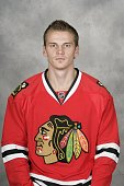 Tomas Kopecky of the Chicago Blackhawks poses for his official headshot for the 20092010 NHL season