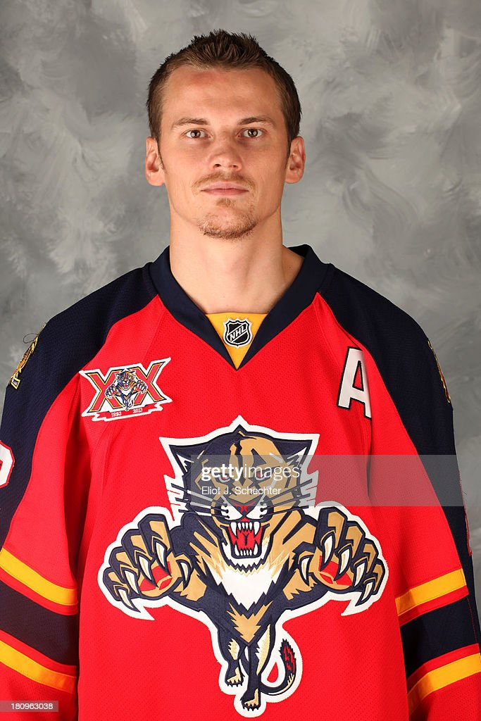 Tomas Kopecky of the Florida Panthers poses for his official headshot for the 2013-2014 NHL season on September 11, 2013 in Sunrise, Florida.