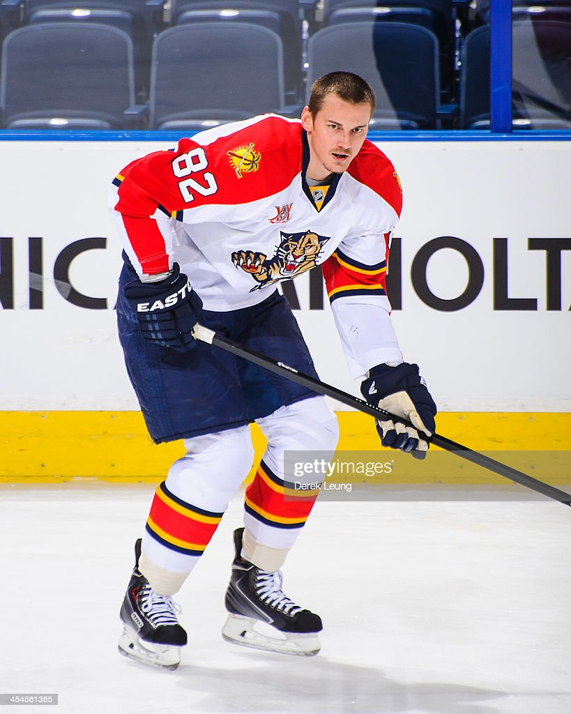 Tomas Kopecky #82 of the Florida Panthers skates against the Edmonton Oilers during an NHL game at Rexall Place on November 21, 2013 in Edmonton, Alberta, Canada.