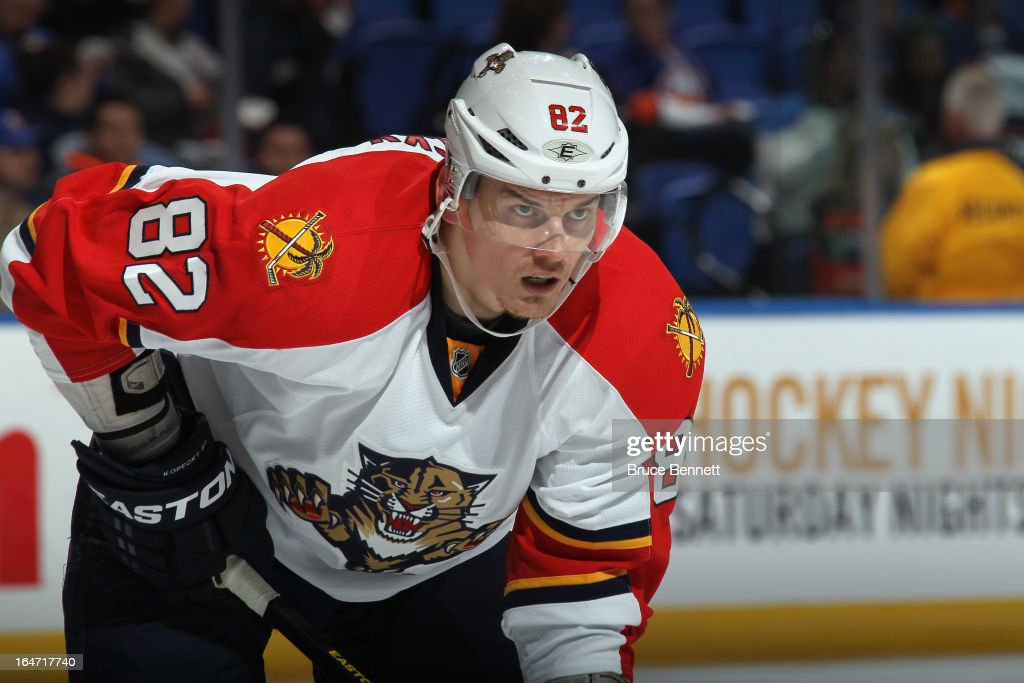 <a gi-track='captionPersonalityLinkClicked' href=/galleries/search?phrase=Tomas+Kopecky&family=editorial&specificpeople=2234349 ng-click='$event.stopPropagation()'>Tomas Kopecky</a> #82 of the Florida Panthers skates against the New York Islanders at the Nassau Veterans Memorial Coliseum on March 24, 2013 in Uniondale, New York.
