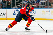 Tomas Kopecky of the Florida Panthers skates for position against the Toronto Maple Leafs at the BBT Center on March 3 2015 in Sunrise Florida