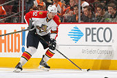 Tomas Kopecky of the Florida Panthers skates the puck against the Philadelphia Flyers on December 18 2014 at the Wells Fargo Center in Philadelphia...