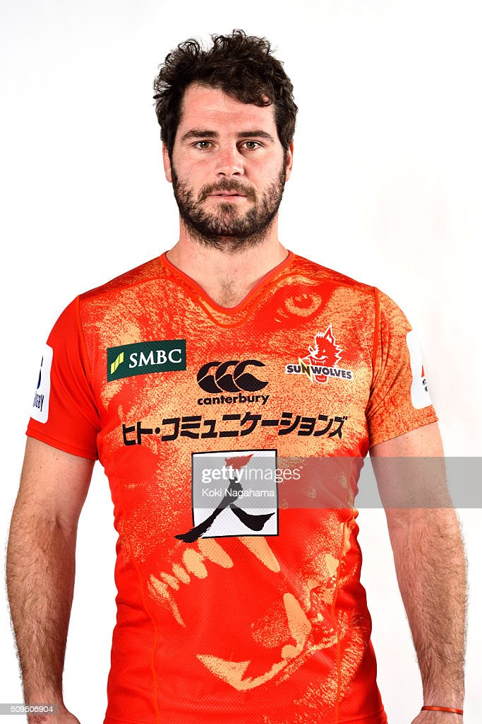 Tomas Leonardi poses during the Sunwolves 2016 Super Rugby headshots session on February 11, 2016 in Tokyo, Japan.