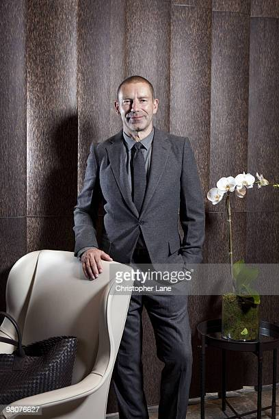 Tomas Maier creative director of Bottega Veneta poses for a portrait session on July 8 New York NY