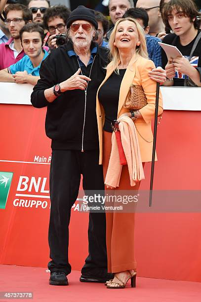 Tomas Milian and Barbara Bouchet On The Red Carpet during the 9th Rome Film Festival on October 17 2014 in Rome Italy