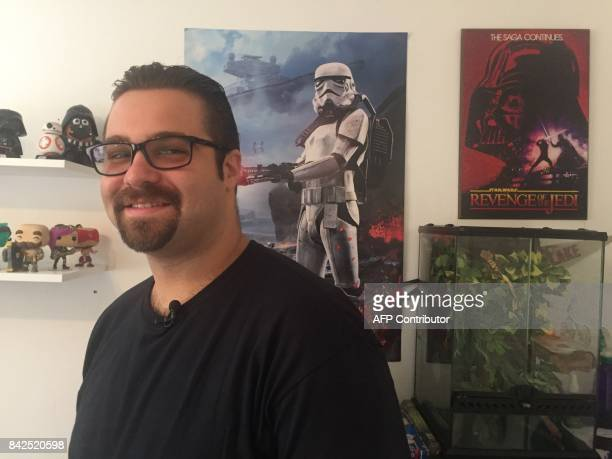 Tomas Pendola talks to AFP in his apartment in Little Havana a Hispanic neighborhood in Miami Florida September 3 2017 Pendola is one of the 800000...