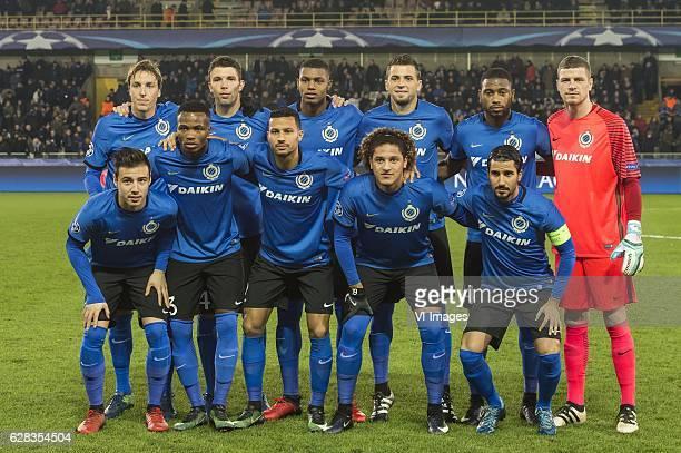 Tomas Pina of Club Brugge Brandon Mechele of Club Brugge Claudemir of Club Brugge Wesley of Club Brugge Stefano Denswil of Club Brugge goalkeeper...