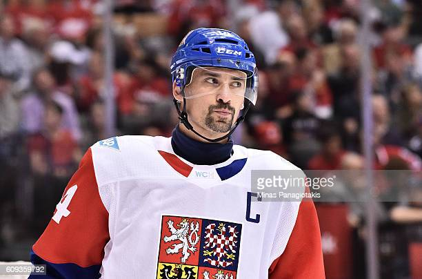 Tomas Plekanec of Team Czech Republic during a game against Team Canada during the World Cup of Hockey 2016 at Air Canada Centre on September 17 2016...