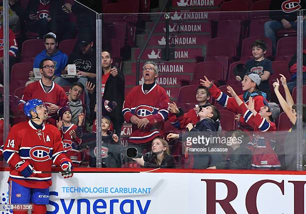 Tomas Plekanec of the Montreal Canadiens during the warm up prior the NHL game against the Florida Panthers in the NHL game at the Bell Centre on...
