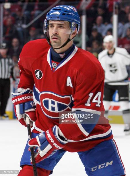 Tomas Plekanec of the Montreal Canadiens plays in the game against the Los Angeles Kings at the Bell Centre on December 12 2014 in Montreal Quebec...