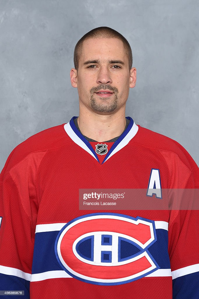 Tomas Plekanec of the Montreal Canadiens poses for his official headshot for the 20142015 season on September 18 2014 at the Bell Sports Complex in...