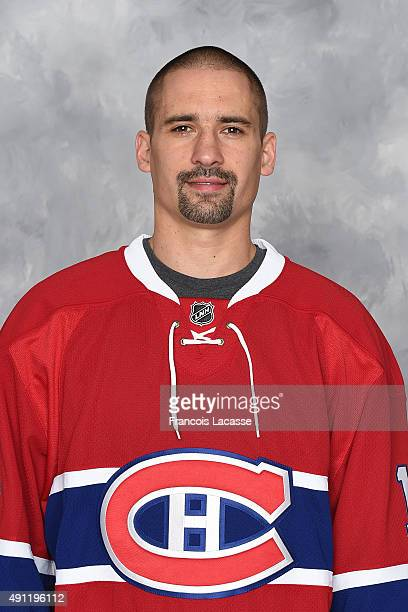 Tomas Plekanec of the Montreal Canadiens poses for his official headshot for the 20152016 season on September 17 2015 at the Bell Sports Complex in...