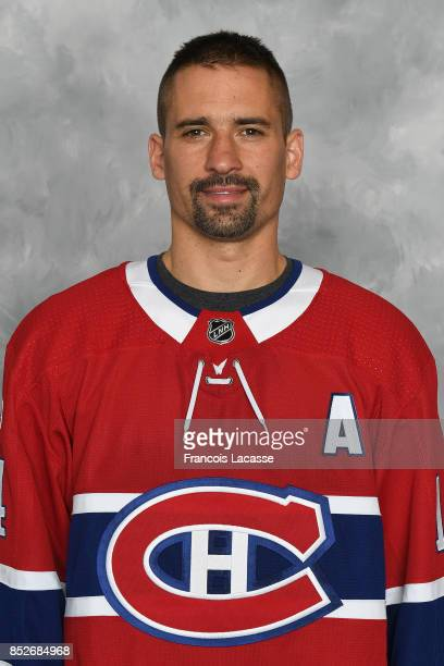 Tomas Plekanec of the Montreal Canadiens poses for his official headshot for the 20172018 season on September 14 2017 at the Bell Sports Complex in...