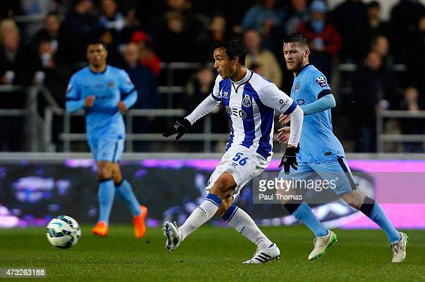Tomas Podstawski of FC Porto in action during the Premier League International Cup Final match between Manchester City and FC Porto at the Manchester...