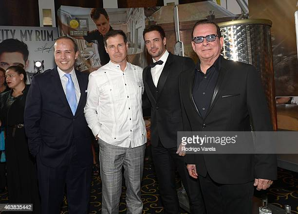 Tomas Regalado Matt Malone William Levy and Hernan Echevarria attend the Miami Club Rum Official Partnership Launch with William Levy at Ritz Carlton...