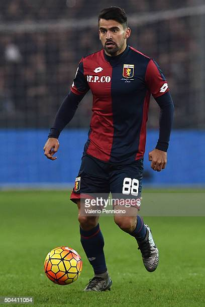 Tomas Rincon of Genoa CFC in action during the Serie A match between Genoa CFC and UC Sampdoria at Stadio Luigi Ferraris on January 5 2016 in Genoa...