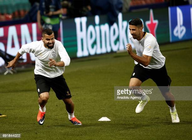 Tomas Rincon of Juventus attends a training session ahead of the UEFA Champions League final football match between Juventus and Real Madrid at the...