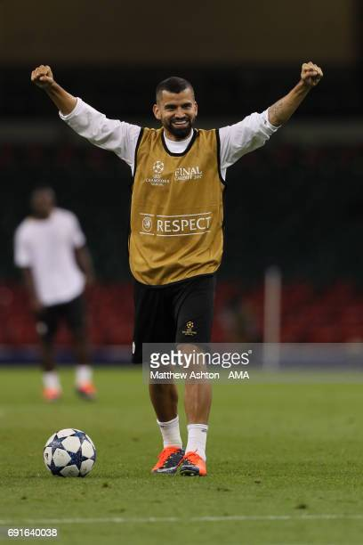 Tomas Rincon of Juventus during a Juventus training session prior to the UEFA Champions League Final at National Stadium of Wales on June 2 2017 in...