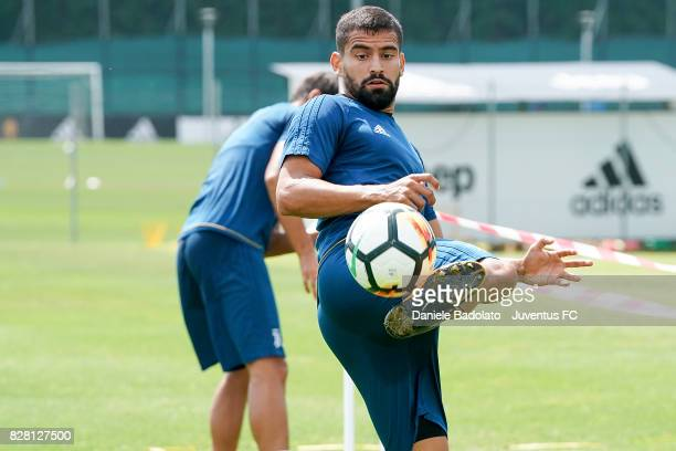 Tomas Rincon of Juventus during a training session on August 9 2017 in Vinovo Italy
