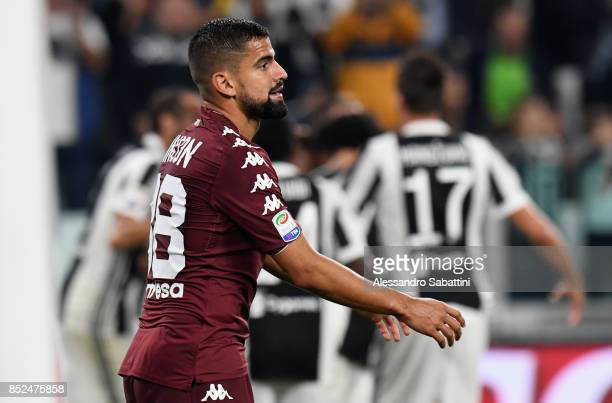 Tomas Rincon of Torino FC reacts during the Serie A match between Juventus and Torino FC on September 23 2017 in Turin Italy