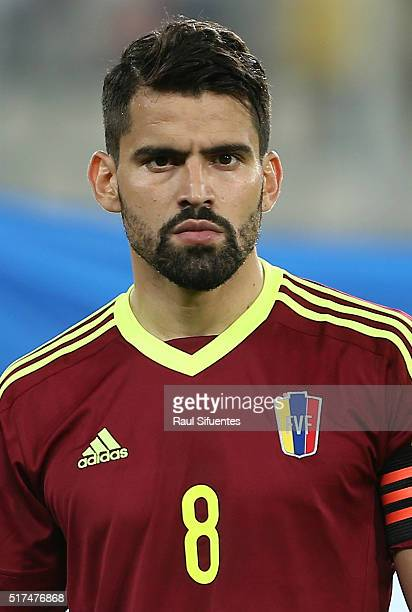 Tomas Rincon of Venezuela looks on before a match between Peru and Venezuela as part of FIFA 2018 World Cup Qualifiers at Nacional Stadium on March...