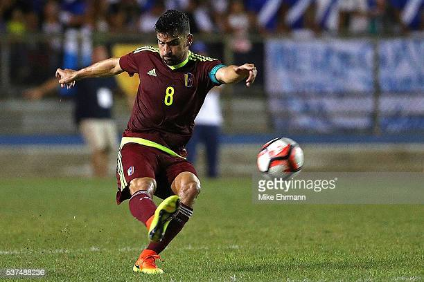 Tomas Rincon of Venezuela passes the ball during a game against Guatamala at Lockhart Stadium on June 1 2016 in Boca Raton Florida