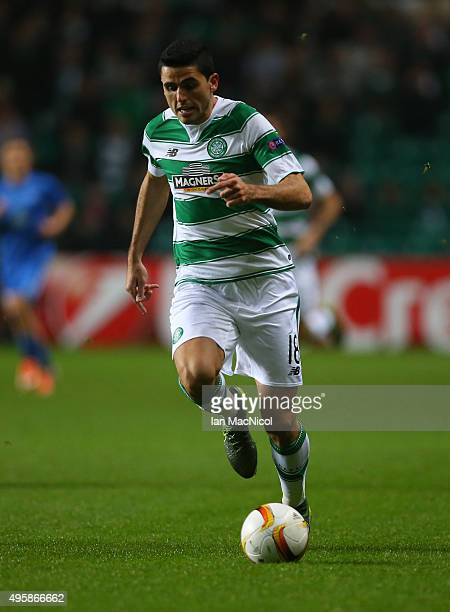Tomas Rogic of Celtic controls the ball during the UEFA Europa League match between Celtic FC and Molde FK at Celtic Park on November 5 2015 in...