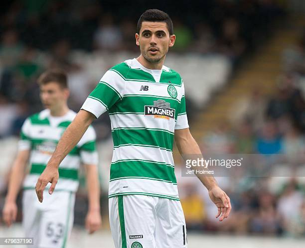 Tomas Rogic of Celtic in action against Den Bosch during the Pre Season Friendly between Celtic and De Bosch at St Mirren Park on July 01 2015 in...