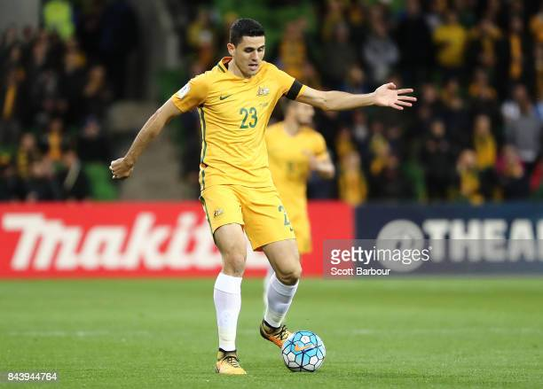 Tomas Rogic of the Socceroos controls the ball during the 2018 FIFA World Cup Qualifier match between the Australian Socceroos and Thailand at AAMI...