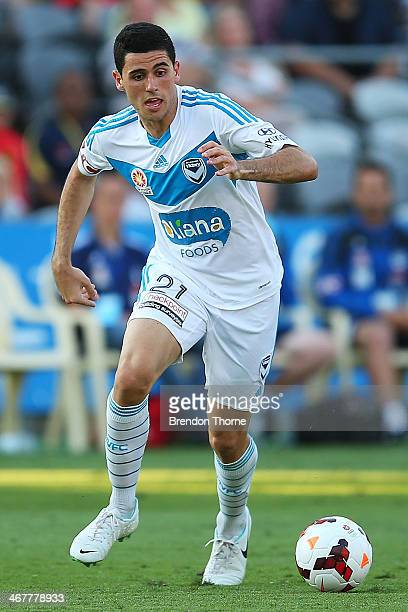 Tomas Rogic of the Victory controls the ball during the round 18 ALeague match between the Central Coast Mariners and the Melbourne Victory at...