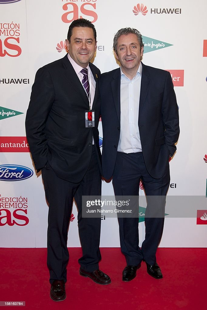 Tomas Roncero and Josep Pedrerol attend 'As del Deporte' awards 2012 at Palace Hotel on December 10, 2012 in Madrid, Spain.