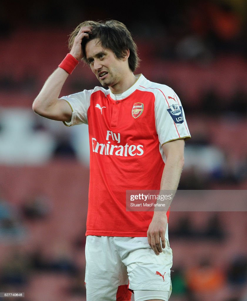 Tomas Rosicky of Arsenal during the Barclays U21 Premier League match between Arsenal and Blackburn Rovers at Emirates Stadium on May 3, 2016 in London, England.
